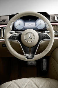 1242x2688 Mercedes S Class Maybach Interior 5k