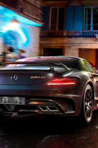Mercedes SLS CGI Photoshopped