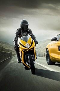 Mercedes Vs Motorcycle