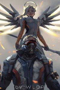 Mercy And Soldier 76 Overwatch Artwork