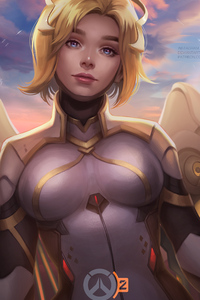 480x800 Mercy Overwatch 2 Concept Art 4k