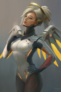 Mercy Overwatch Angel