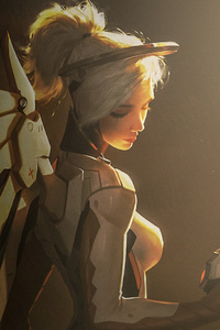 Mercy Overwatch Anime Girl