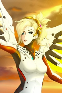 Mercy Overwatch Art 5k