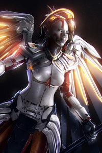 Mercy Overwatch Artwork Hd