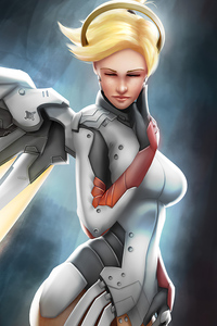 320x568 Mercy Overwatch Artworks 4k