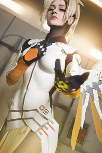 540x960 Mercy Overwatch Cosplay 2021 4k