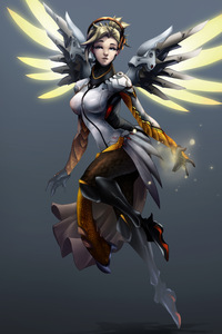 Mercy Overwatch Digital Art 5k