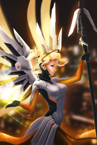 Mercy Overwatch Fanart 4k