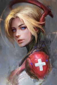 Mercy Overwatch Fantasy Artworks