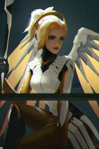 Mercy Overwatch Game Art 4k