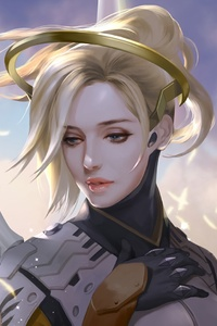 Mercy Overwatch Game Artwork