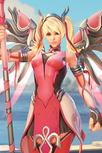 Mercy Overwatch Pink Mercy Skin 4k