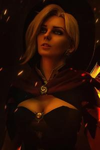 1125x2436 Mercy Overwatch Witch Cosplay 4k