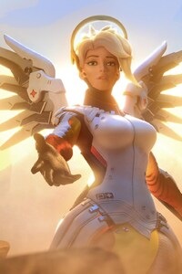 320x480 Mercy Overwatch