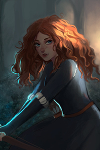 1280x2120 Merida Brave Movie Artwork