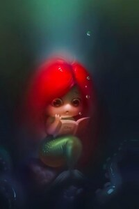 640x1136 Mermaid Little Girl