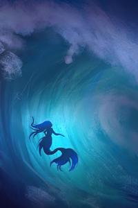 Mermaid Tsunami 4k