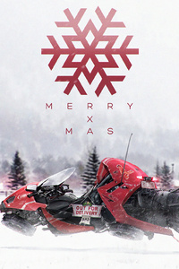 Merry X Mas Snowmobile
