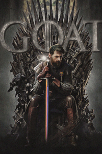 1242x2688 Messi Game Of Thrones