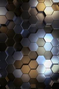 1125x2436 Metal Polygon Shapes 5k