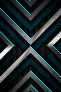 1125x2436 Metal Shapes 4k