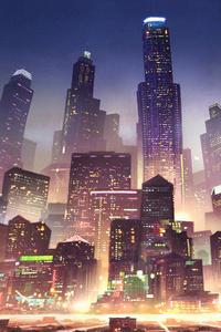 640x960 Metropolis City 5k