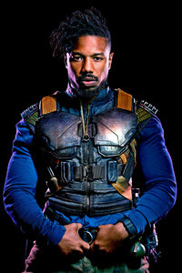 640x1136 Michael B Jordan As Erik Killmonger In Black Panther 2018