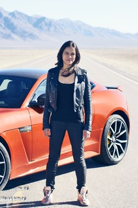 Michelle Rodriguez With Jaguar F Type
