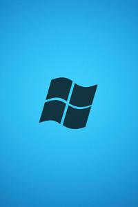 320x480 Microsoft Logo Minimal 4k