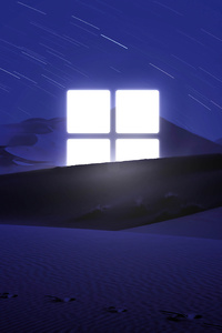 1242x2688 Microsoft Night Light 5k
