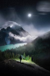 2160x3840 Midnight Explorations Under The Full Moon 4k