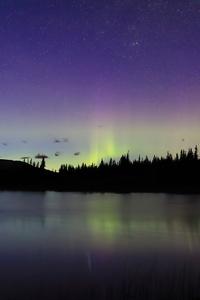 1080x1920 Midnight Lake Aurora 4k