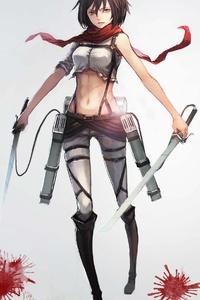 Mikasa Ackerman 4k