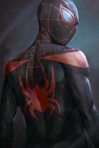 2160x3840 Miles Morales Black Suit 4k