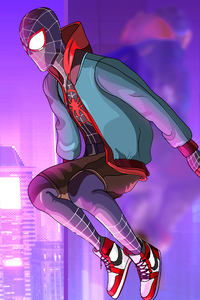 Miles Morales Colorful Art