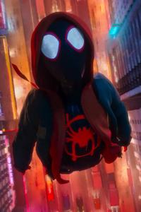 Miles Morales In Spider Man Into The Spider Verse Movie 2018