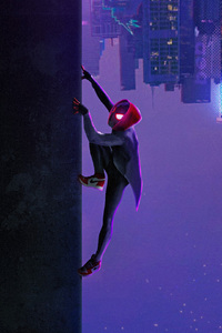 Miles Morales In Spider Man Into The Spider Verse Movie Art