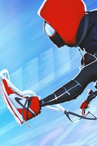 Miles Morales Jumping 4k