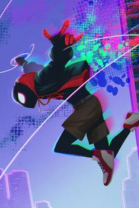 Miles Morales Jumping Art