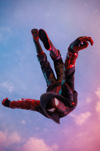 Miles Morales Ps5 Spiderman Jump 4k