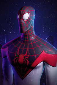 Miles Morales Spider Man Digital 3D