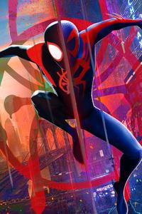 1125x2436 Miles Morales Spiderman 2099