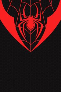 1440x2960 Miles Morales Spiderman Logo