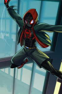 Miles Morales Spiderverse Art
