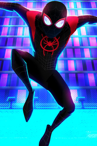 1080x2280 Miles Morales Up