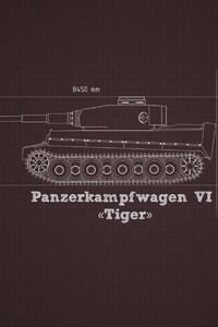 1280x2120 Military Tank Blueprints