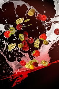 240x400 Milkshake Fruits Desert Movemenet