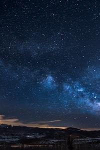 800x1280 Milkway Glowing Stars Sky 5k