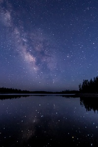 Milkway Lake Water Reflection Stars 5k